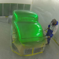 34 Coupe being painted
